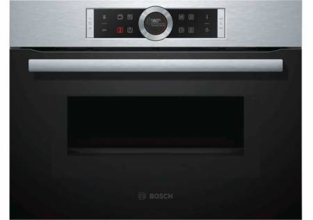 B-Stock, This model is a display and does not have any packaging, 60cm 45L, 6 heat oven functions, 14 auto programs, 1000wt microwave S/S Compact oven with microwave-0