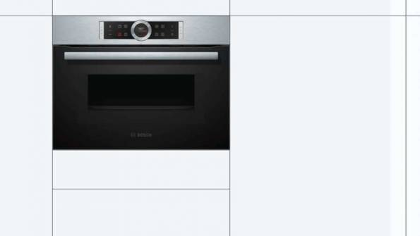 B-Stock, This model is a display and does not have any packaging, 60cm 45L, 6 heat oven functions, 14 auto programs, 1000wt microwave S/S Compact oven with microwave-4759