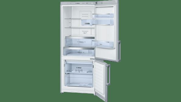 Display 452 litres, stainless steel, frost free multi airflow system, reversible door hinging bottom mount fridge/freezer-0