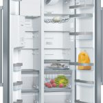 B-Stock, this has no packaging, 633L, frost free multi airflow system, ice & water stainless steel side-by-side fridge/freezer-0