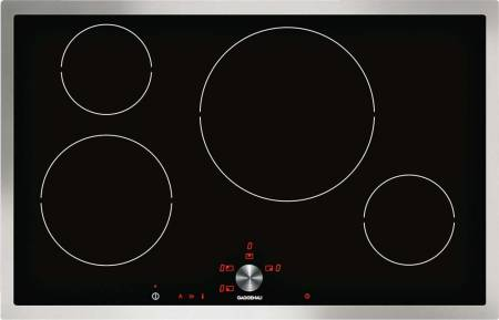 Display, 80cm, stainless steel frame, twist pad control with removable magnetic knob, 17 power levels, memory function induction hob-0