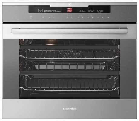 Display, 60cm, 8 functions, 2 telescopic oven rails, 80L, cool touch door oven-0