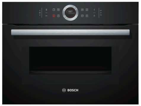 B-Stock, This model is a display and does not have any packaging, 60cm, 6 heat functions, 5 microwave setting, 14 automatic programs, 45 litres, LED lighting, electronic clock/timer, child lock, black combi microwave oven -0