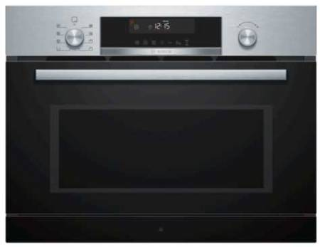 B stock, This is an end of line model. There is also a dent at the back on the LHS of the casing, 60cm, 4 heat functions, 3 steam levels, 15 auto programs, 36 litres stainless steel combi microwave oven with steam oven-0
