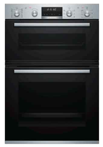 B-Stock, No packaging, display unit, 60cm, 30 pre-set programs, 10 heat functions, pyrolytic, top oven 34 litres, Main oven 71 litres, 1 set telescopic oven rails, soft close double oven-0