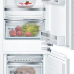 273L, electronic controls, LED illumination in fridge, Super cooling function, automatic defrost cooling system, glass shelves, fully integrated Bottom Mount Fridge Freezer-5999