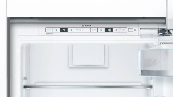 273L, electronic controls, LED illumination in fridge, Super cooling function, automatic defrost cooling system, glass shelves, fully integrated Bottom Mount Fridge Freezer-5998
