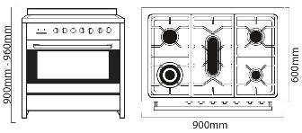 Parmco AR 900-1 dimensions