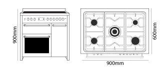 Parmco CS-900G-BGE dimensions