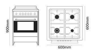 Parmco FS-600 dimensions
