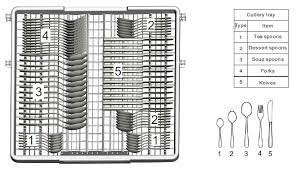 Parmco PD6-PBL black cutlery tray